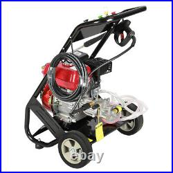 Dkiei High Powered Pressure 2500psi 7hp Jet Washer 9 Litre Petrol Engine Mobiled