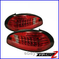 HIGH-POWER CREE BACKUP! RED/CLEAR LED Signal Taillight 97-03 Pontiac Grand PRIX
