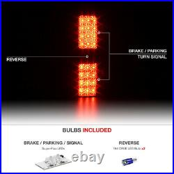 HIGH-POWER SMD BACKUP 09-14 Ford F150 Black LED Neon Tube Tail Lamps PAIR NEW