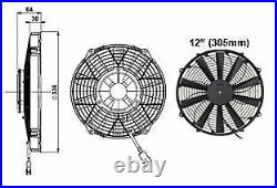Revotec Universal High Power Comex Engine Cooling Fan 12 (305mm) Pusher/Blower