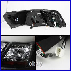 Satin Black HIgh Power LED Tail Lights Lamps For 07-09 Toyota Camry SE/XLE/LE